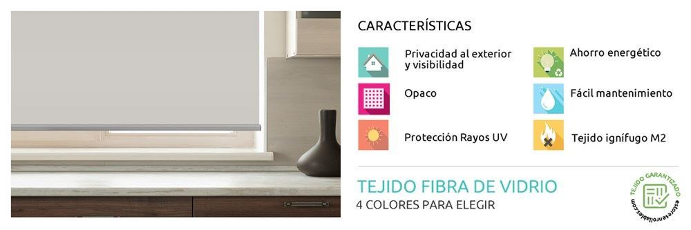 Estor Enrollable Blackout Glassfibra Foscurit | Estoresenrollables.com